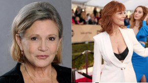 Beautifull ladies Carrie Fisher en Susan Sarandon.