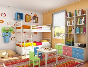 Beautiful Colorful Bedroom Interior Design