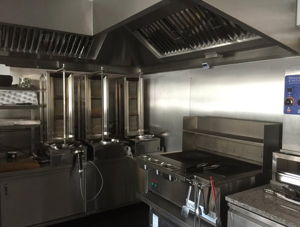 Kitchen Island Ventilation Pod Stainless - Island House Gourmet Fish & Chip Shop