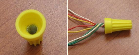 Колпачки для скрутки проводов