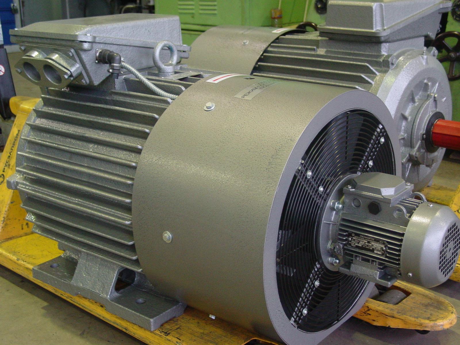 Вентиляция электродвигателя