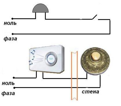 Схема подключения звонка