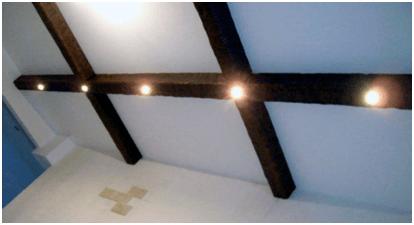 Светильники в пустотелом коробе