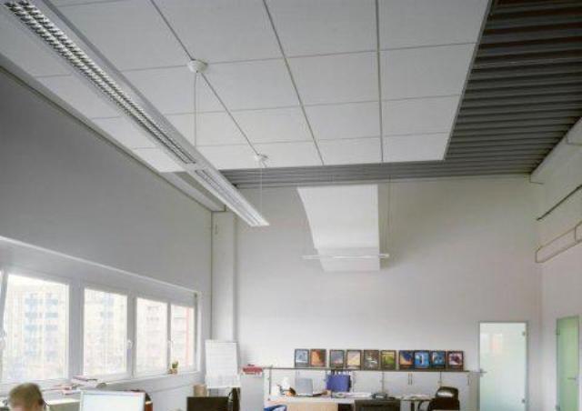 Светильник для потолка типа Армстронг. Подвесная конструкция светильника с креплением к потолочной плите