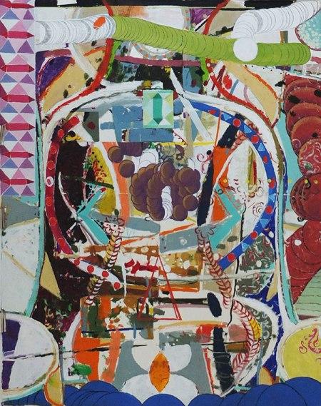 Jonathan McCree, Sequence, 113x143 cm, huile et acrylique sur papier, 2012.