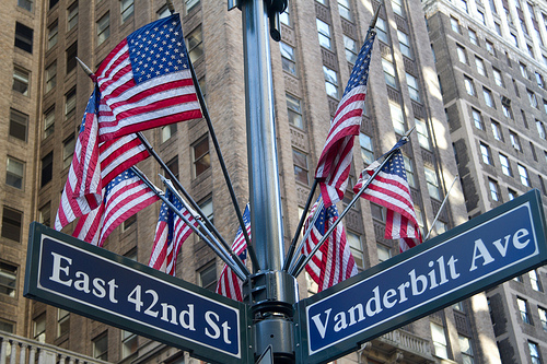 flags over 42nd street - poet in the pantry