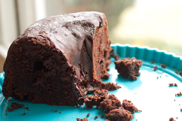 Spicy Chocolate Bourbon Bundt Cake