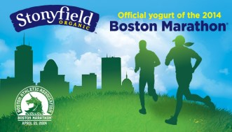 Stonyfield official yogurt of Boston Marathon