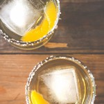 Peach Jalapeño Whiskey Cocktail featuring The Mixologist's Salt Collection from UncommonGoods {this is a sponsored post}