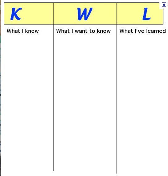 kwl chart template word - blank comparison chart template