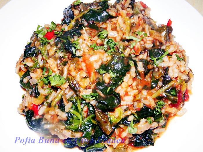 Urzici, spanac sau stevie cu orez