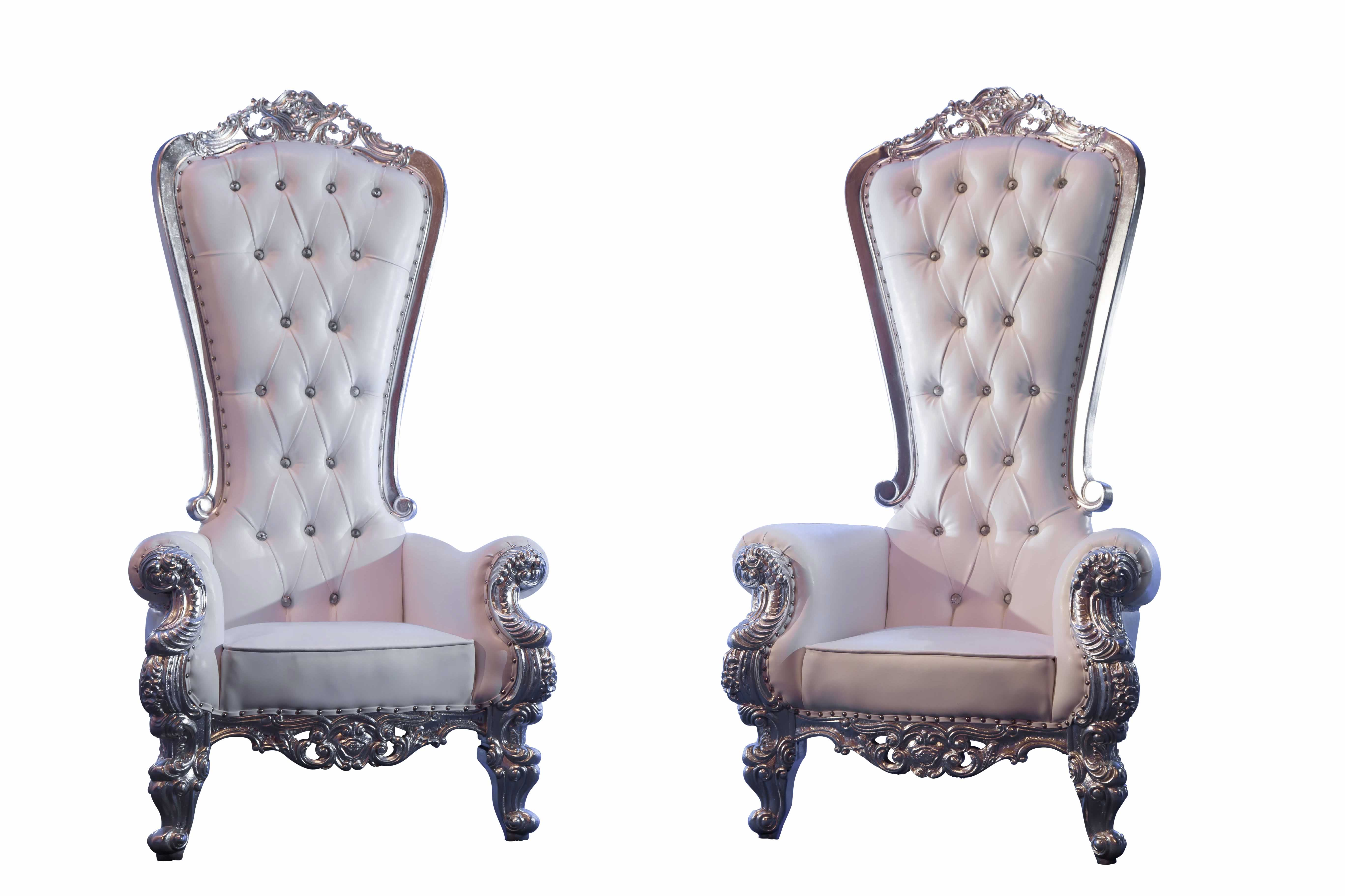 Victoria Throne Chair Set In Silver Pohp Events