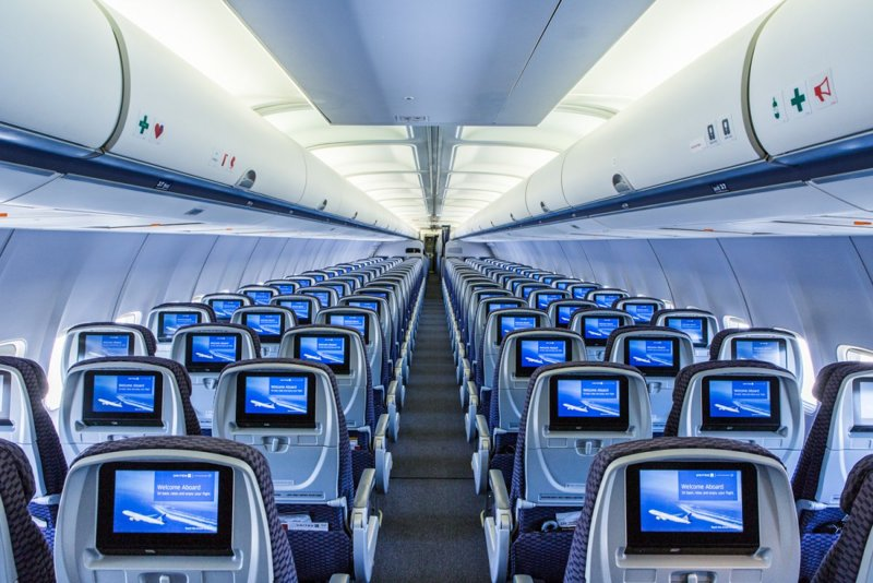 United Airline Planes Inside Boeing 737 MAX 10 Conf...