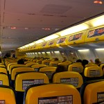 Ryanair's Boeing 737-800 Cabin. Photo by Ruthann, used with permission.