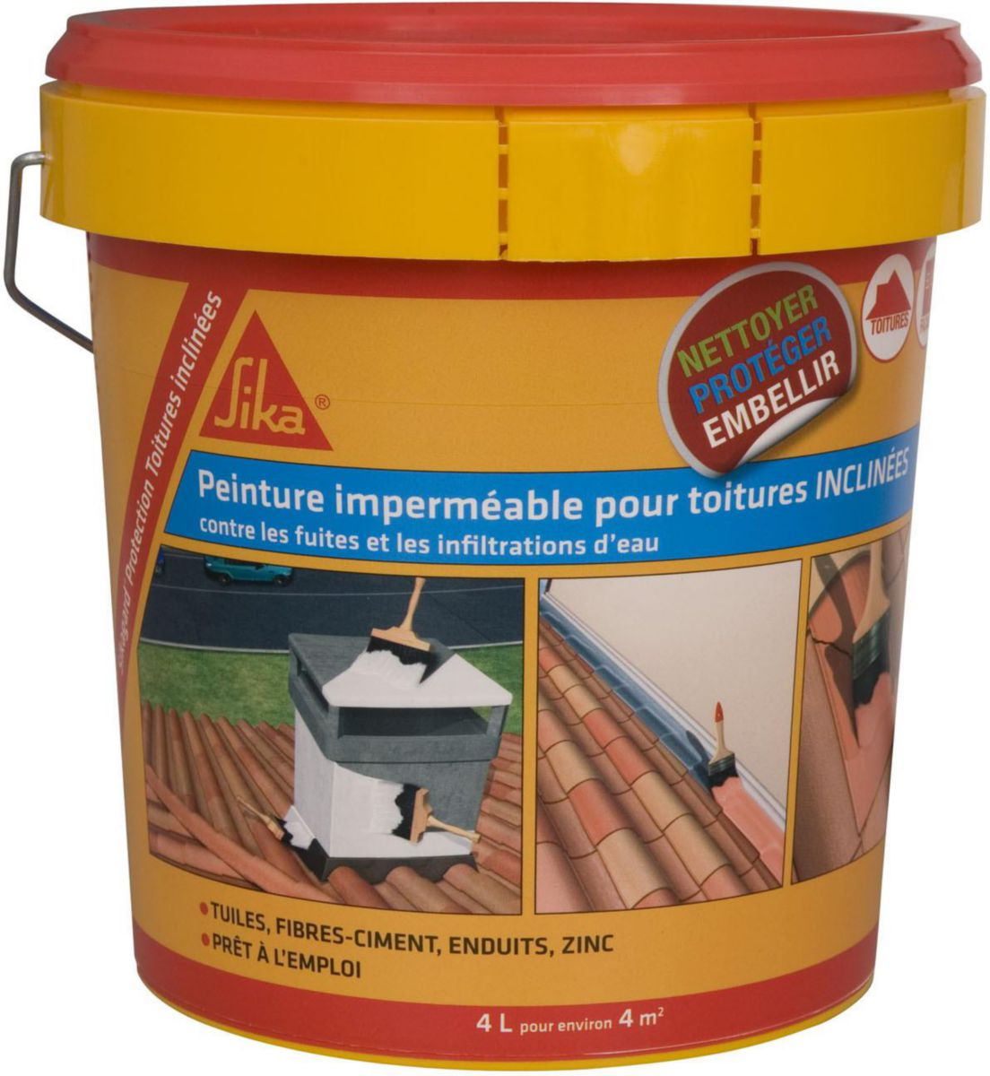 Hydrofuge Terrasse Point P Sika - Revêtement Souple Protection Infiltrations Sikagard
