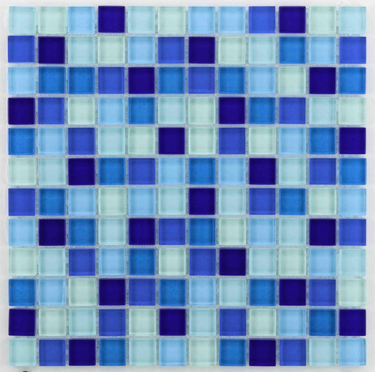 Carreau De Verre Carreau De Verre Bärwolf Water Blue Mix Mosaïque 2 3x2 3cm Décor 29 8x29 8cm Gl 2461