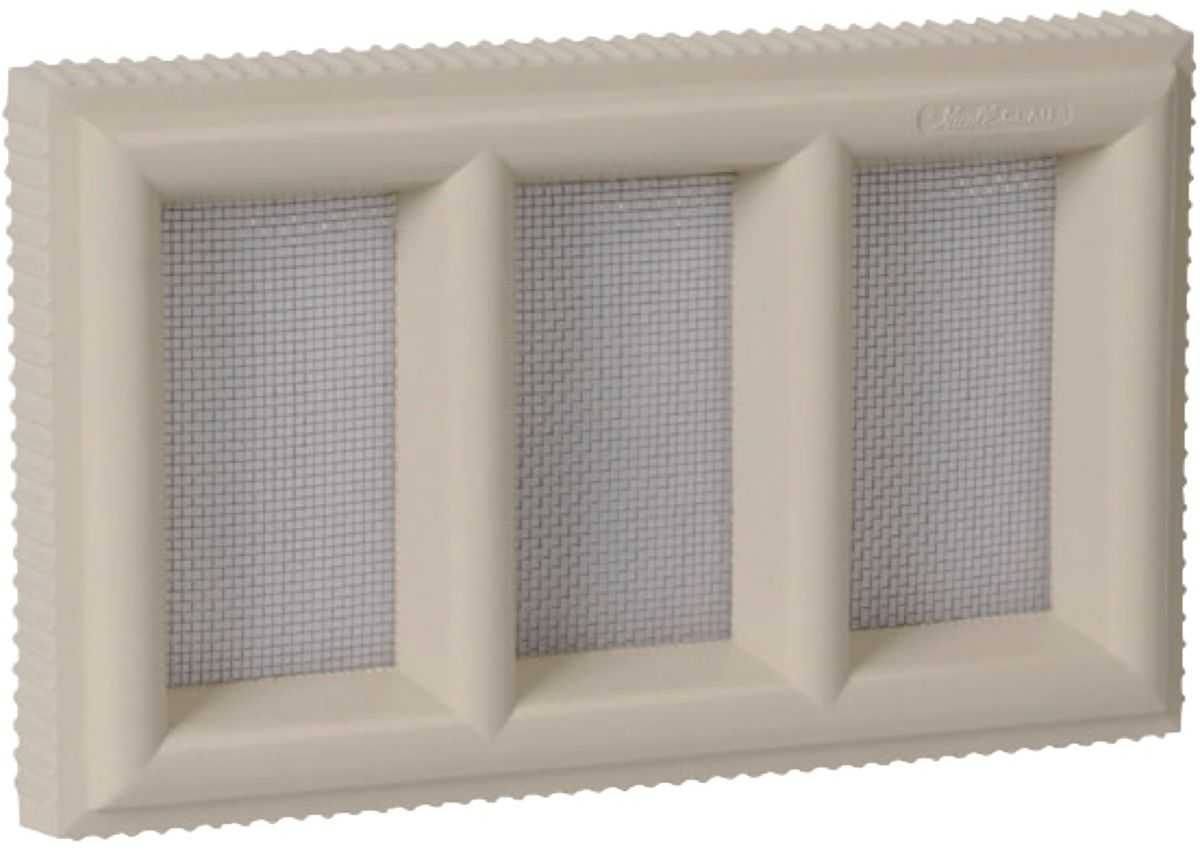 Grille Aeration Exterieur Nicoll - Grille Aération Claustra Pvc Sable Nicoll