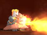 メガバクーダの火炎放射