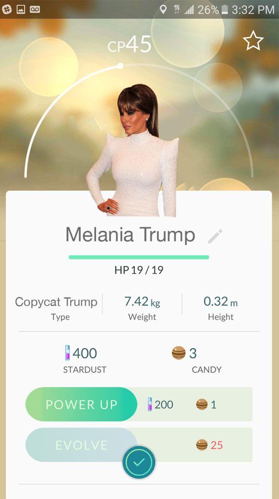 melania-trump-pokemon-go