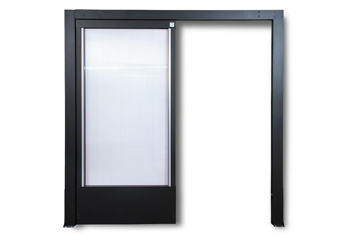 Single sliding aisle containment door