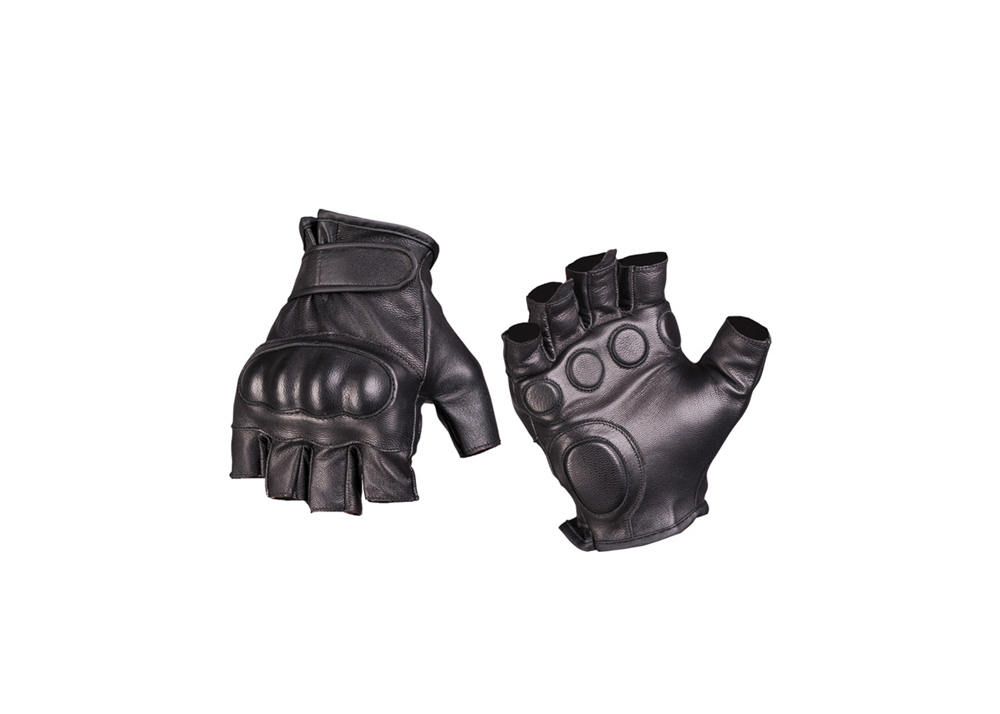 Schaumstoff Hannover Tactical Fingerlinge Leder Schwarz - Polas24