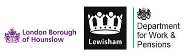 Hounslow-Lewisham-DWP _logos