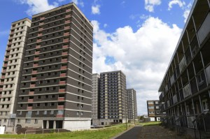 Tower block-council housing in the UK