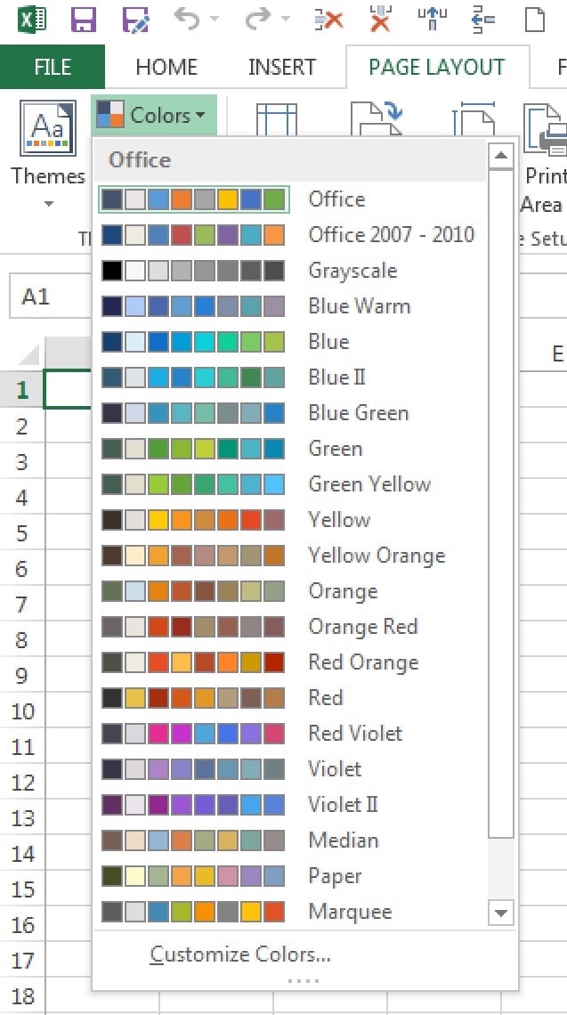 150+ Color Palettes for Excel - Policy Viz