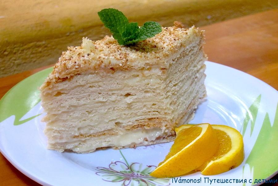 Наполеон торт с готовыми коржами рецепт с пошагово