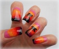 sunset nails   Polish Alcoholic