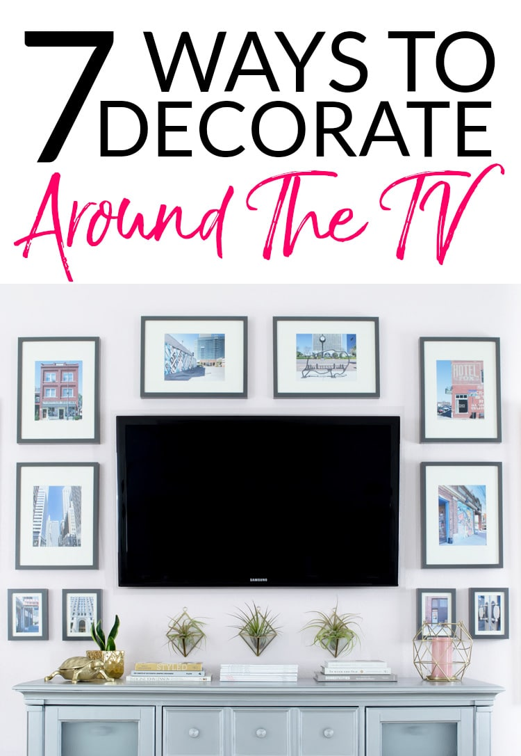 Ideas For Decorating Around A Flat Screen Tv How To Decorate Around A Tv An Option For Every Style Polished