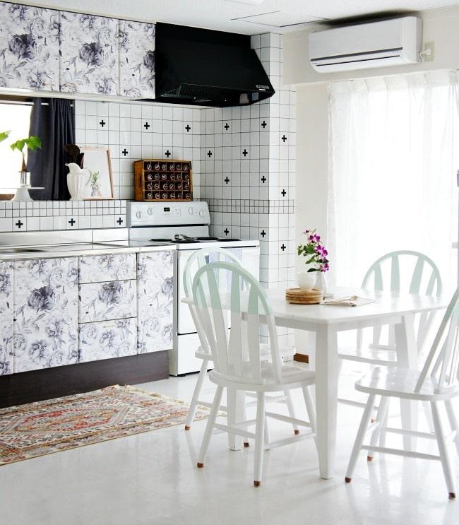 beautiful solutions hiding eyesores rentals polished habitat rental friendly kitchen update wallpaper cabinets