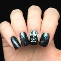 Darth Vader Galaxy Nail Art  Polished Inka