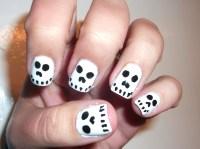 Halloween Skull Nails- So easy and cute!!!   Polish Me ...