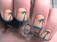 Tropical Sunset Nail Art | Polish Me, Please!