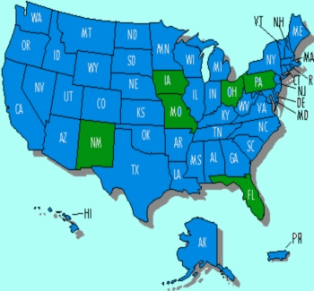 US Presidential election 2012 swing states