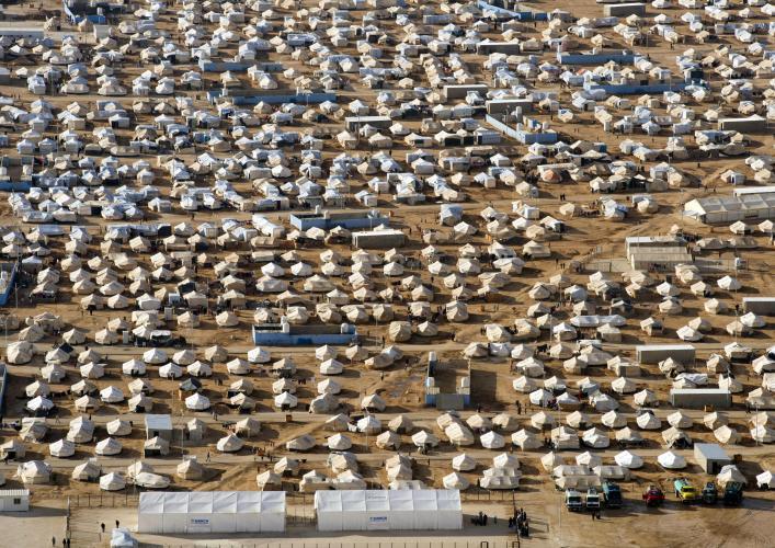 Refugee camp in Jordan. Image: UN
