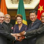 The leaders of the BRICS. Image: Roberto Stuckert Filho/PR
