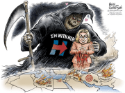 War with Hillary - Ben Garrison