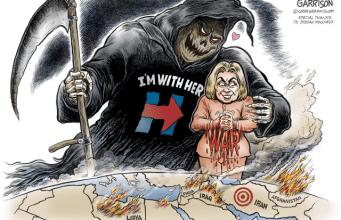 War with Hillary - Ben Garrison