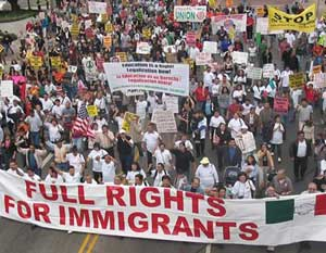 immigrant rights march