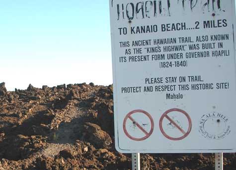 Kings Highway sign, Maui