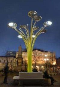 solar tree street light