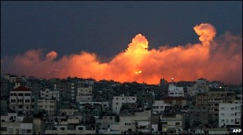 bbc gaza fire