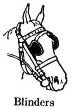 horse -blinders