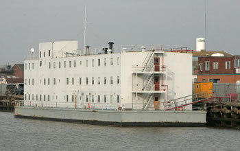 ex prison ship houses workers