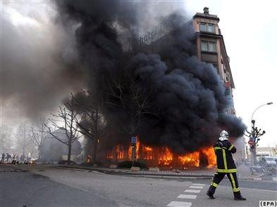strasbourg hotel burning