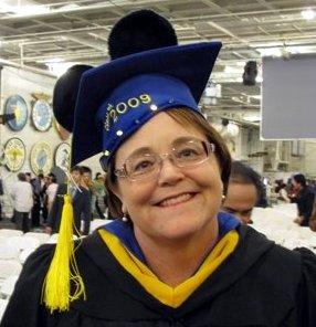 Sue Morris on Graduation Day