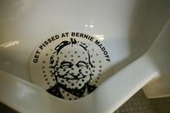 Bernie Madoff urinal screen