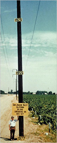 land-subsidence in California central valley
